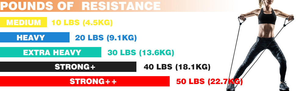 POWER GUIDANCE Gomas Elasticas Musculacion - Gomas Entrenamiento con 5 Bandas de Resistencia Círculos de Resistencia Manijas Anclaje de Puerta Correas ...