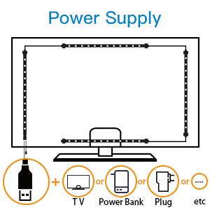 LED Luces de Tira Impermeables-48 LED Tira de Retroiluminación de TV, 16 Colores, 4 Modos: Amazon.es: Electrónica