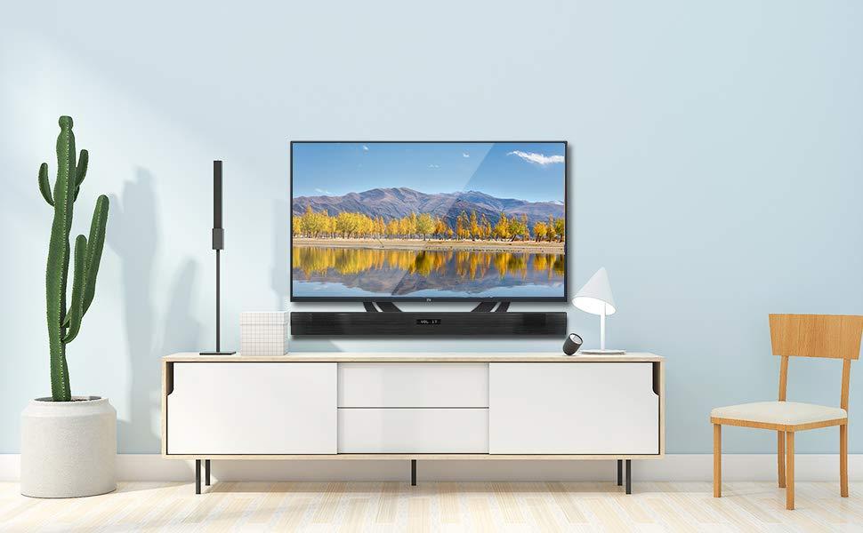 """Soporte de Barra de Sonido para TVs de 23 a 65""""- Montaje por Encima o Debajo de la TV, MAX VESA 600X400mm – 15KG Capacidad de Peso: Amazon.es: Electrónica"""