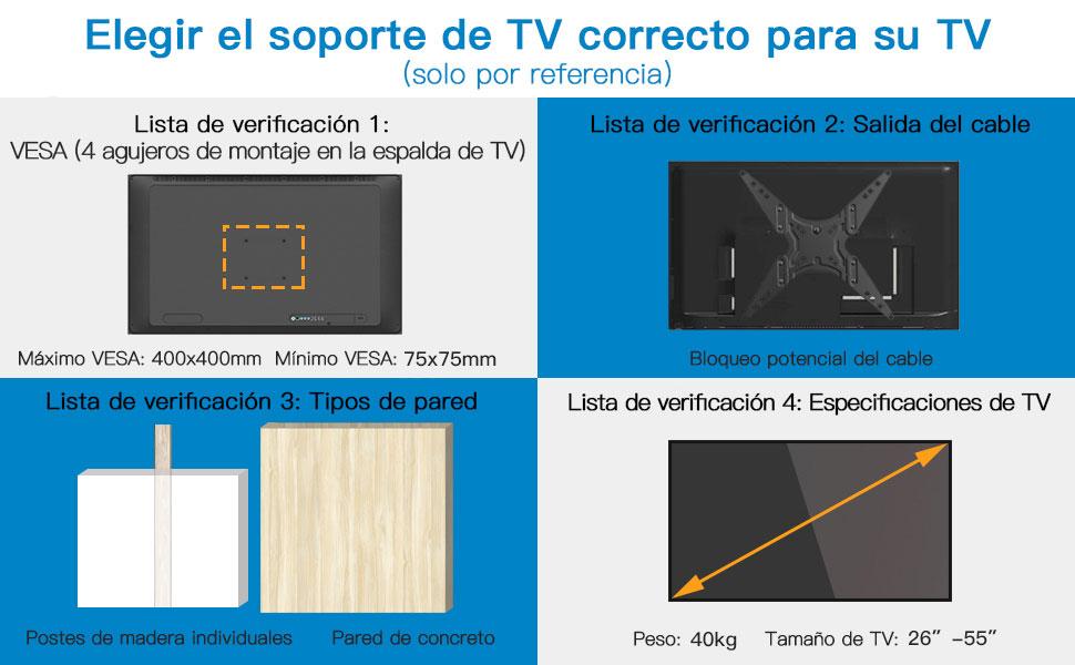 Soporte TV de Pared - Gira, Inclina y Extiende: Amazon.es: Electrónica