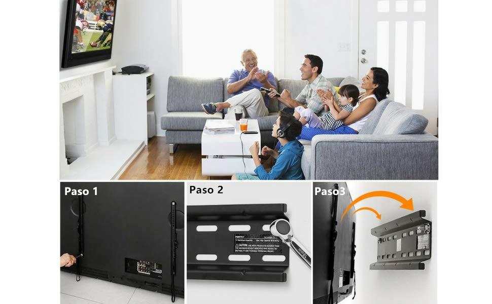 Soporte TV De Pared Articulado Inclinable – Soporte De Pared para ...
