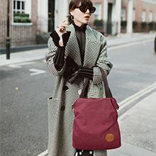 bolso mano mujer,bolsa de hombro totalizador  tote bolso hobo para  compras vino rojo gris negro