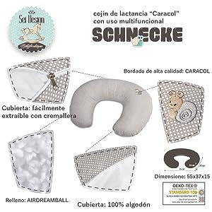 Sé Diseño Cojín Lactancia ergonómico | Cojín | Baby de nido ...