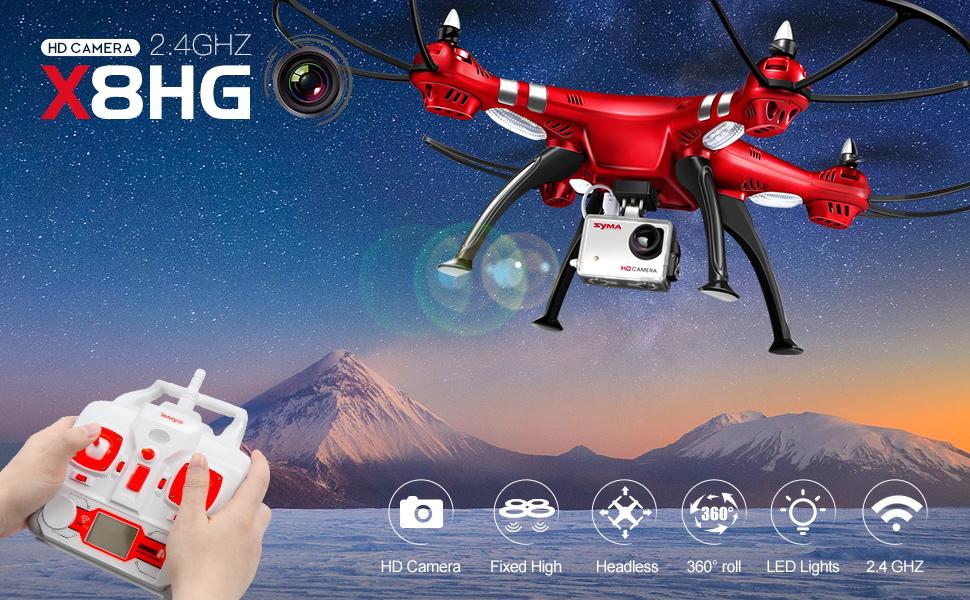 DoDoeleph Drone con Camara Profesional HD de 8.0MP SYMA X8HG 1080P ...