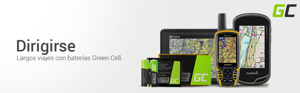 Li-Ion Celdas 1000mAh 3.7V Green Cell/® KE37BE49D0DX3 Bater/ía para Garmin