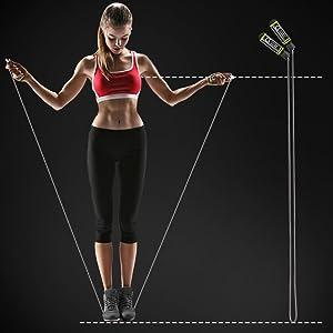 como medir la cuerda de saltar