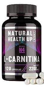 l-carnitina lcarnitina l carnitina carnitine natural tartrato mg adelgazar perdida peso fat burner