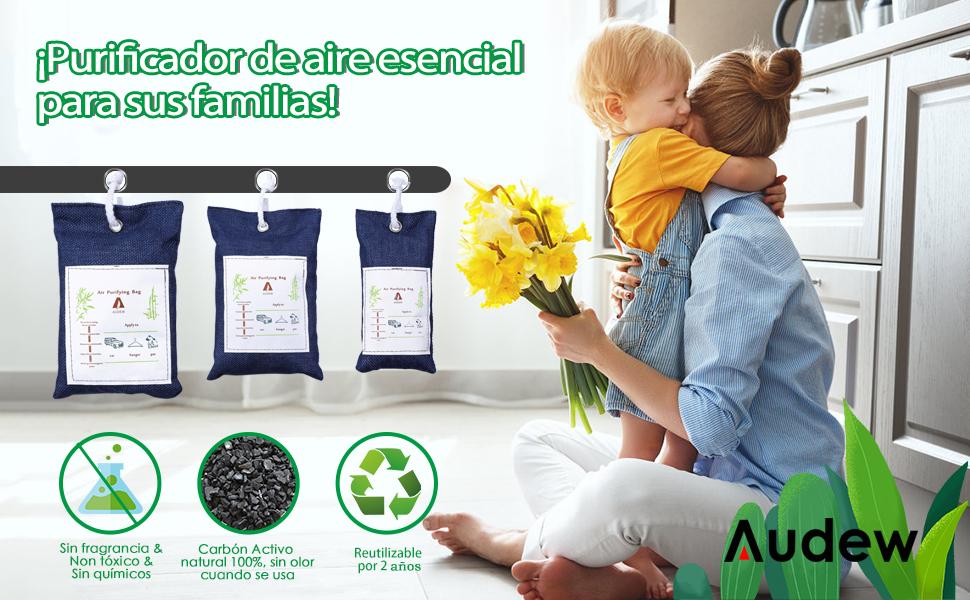Audew Bolsas Antihumedad de Carbón Activo Deshumidificador ...