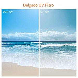 Pluma de Limpieza Estuche para 3 Filtros Kit de Filtro 67MM Filtros Ultrvioleta/Filtro Polarizador Filtro de Densidad Neutra K/&F Concept 67MM UV CPL ND4