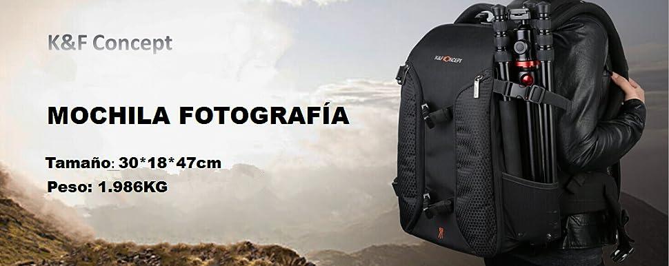 K&F Concept - Mochila Fotografía Impermeable con Gran Capacidad ...
