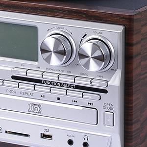 JORLAI Tocadiscos con 3 velocidades, altavoces estéreo, LCD ...