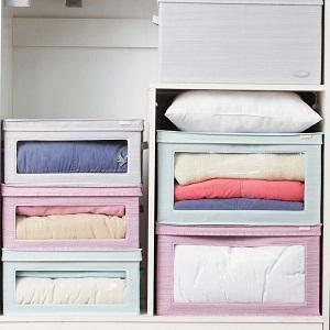 La caja ofrece un amplio espacio de almacenamiento, perfecto para almacenar ropa, juguetes para niños, juegos de cama, edredones, mantas, archivos, CD, DVD, ...