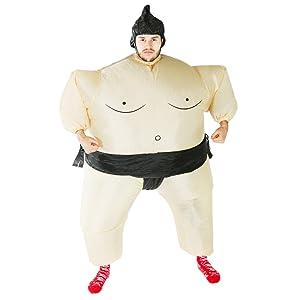 Bodysocks® Disfraz Hinchable de Luchador de Sumo Adulto: Amazon.es ...