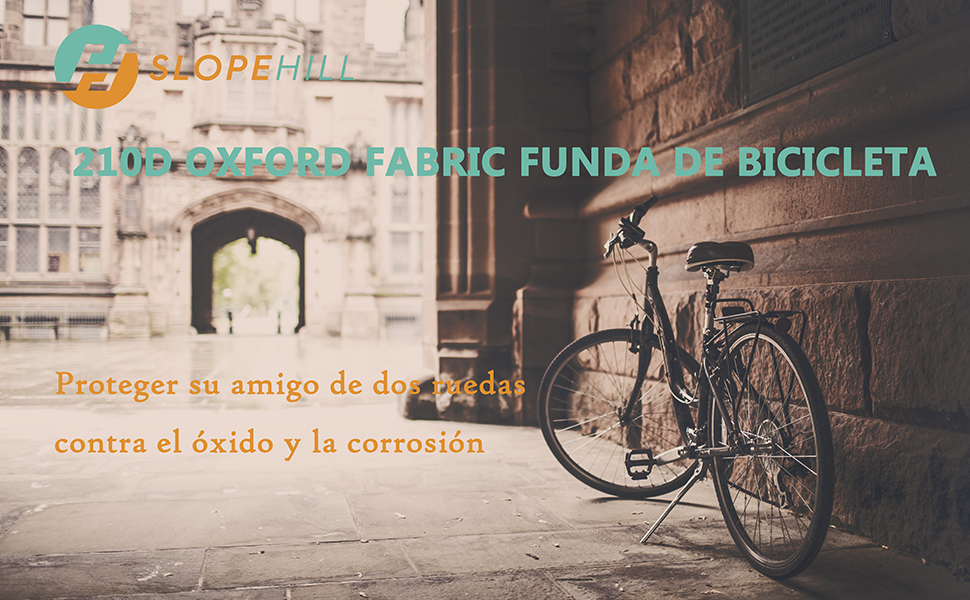 Funda de Bicicleta Transpirable – Slopehill Impermeable 210D Oxford Cubierta de Bicicleta Anti UV, Sol, Nieve, Lluvia,Polvo | 220x110x95cm | Para ...