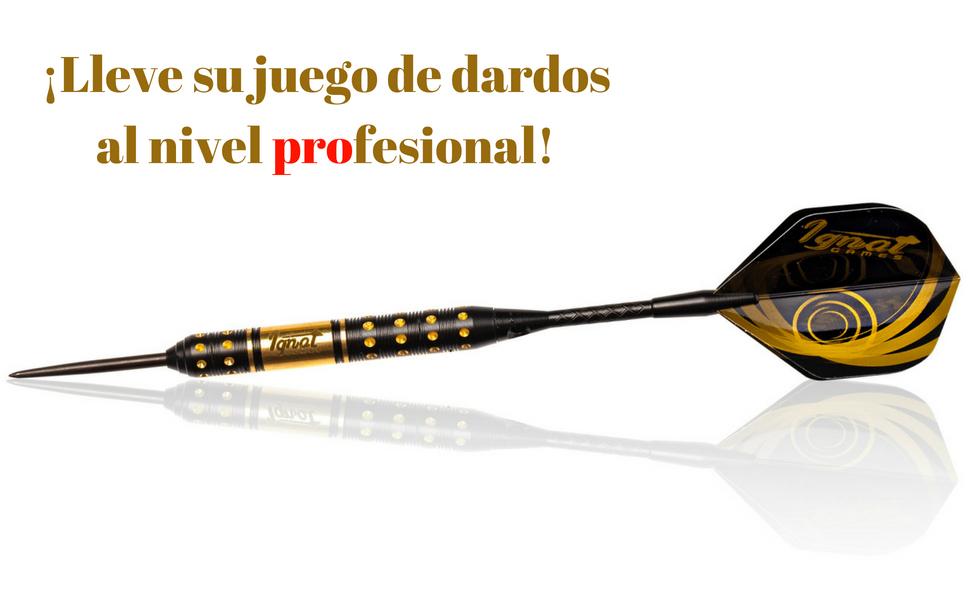 IgnatGames Dardos Punta de Acero - 18g Dardos Profesionales con Ejes ...