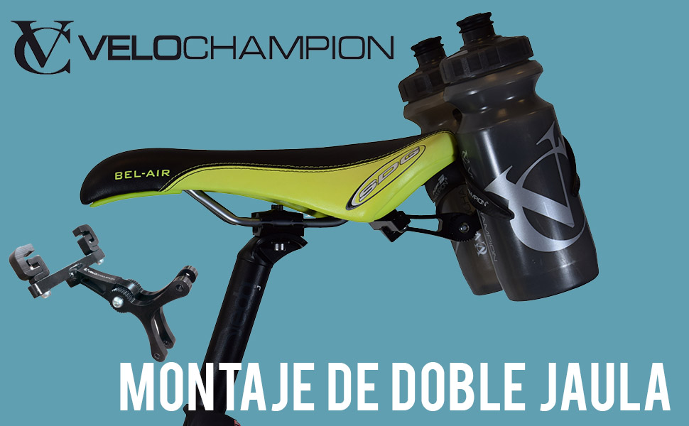 VeloChampion Montura Portabotellas Doble para Sillín de Bicicleta ...