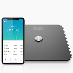 Bascula Grasa Corporal, Báscula HUTbIT BMI Escala de peso de baño digital Analizador de composición corporal 18 Mediciones precisas Tecnología avanzada de recubrimiento ITO: Amazon.es: Salud y cuidado personal