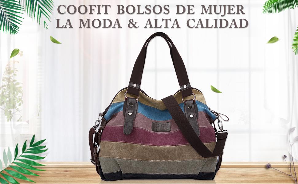 Bolsos de Mujer, Coofit Bolso Bandolera Bolso Lona Bolso Tote Bolso Shopper
