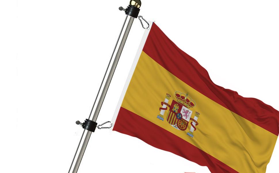 JEZOMONY Anillos de Montaje con mástil de Bandera Sujetadores ...