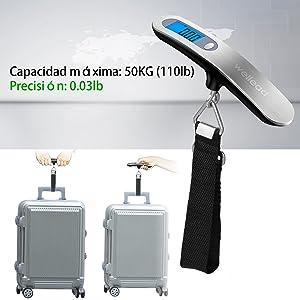 Báscula de Equipaje,Balanza Ergonómica LCD Báscula wellead Báscula ...
