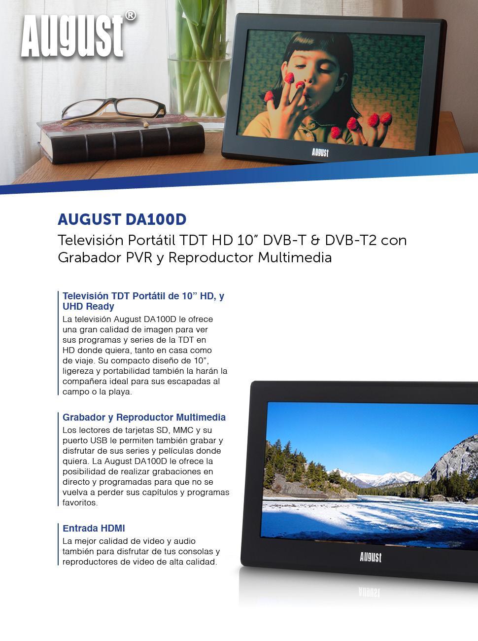 Televisión Portátil TDT HD 10\