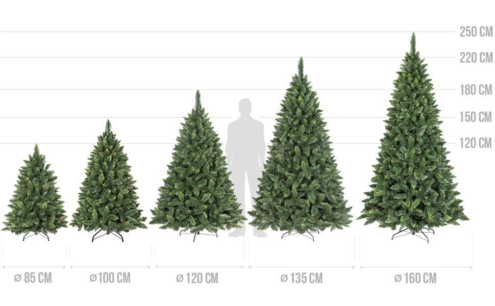 FairyTrees Árbol de Navidad artificial PINO, natural verde, Material ...