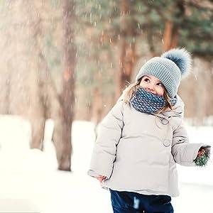Niños Botas de Nieve Impermeable Niña Botas de Invierno Calientes Zapatos de Nieve Outdoor Invierno