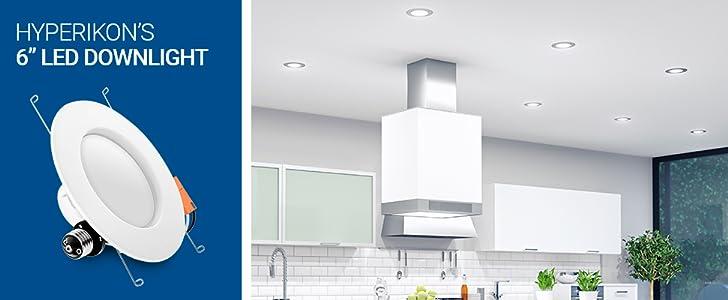 Hyperikon Plafón Empotrable LED - Lámpara de Techo - 14W - Blanco Cálido (2700K) - Para Cocina, Sala, Pasillo, Baño, Habitación - Paquete de 4: Amazon.es: Iluminación