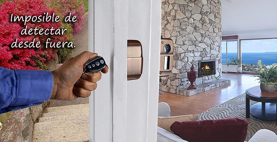 KENROD Cerradura Inteligente Invisible 🔼 Cerradura 3 Mandos 🔼 Cerradura Antibumping 🔼 Cerradura Electronica con Mando 🔼 Cerradura Puerta Interior 🔼 ...