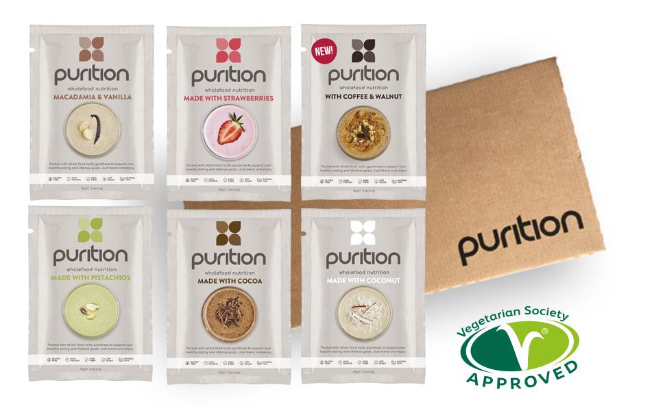 Purition Caja de muestras de batidos de proteínas (6 x 40g ...