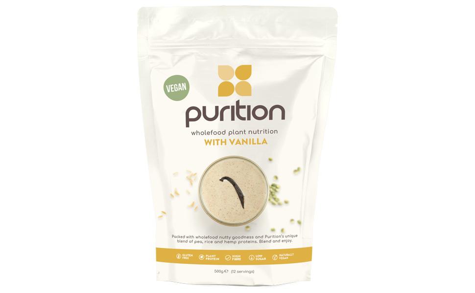 Purition Batido de proteínas veganos de Vainilla (500g). Batido ...