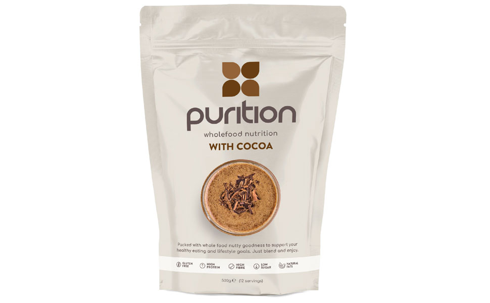 Purition Chocolate Cocoa 500g all natural protein powder