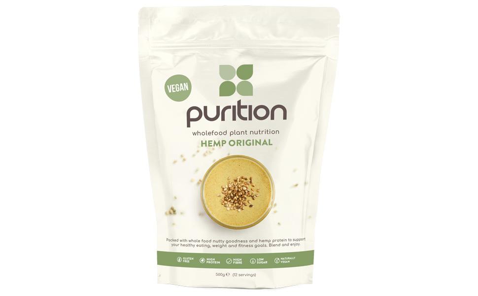 Purition Batido de proteínas Crudivegano (500g). Batido para el ...