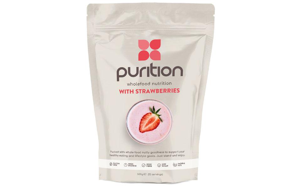 Purition Original Proteína Natural en Polvo para mezclar sabor a fresa bolsa de 500 g