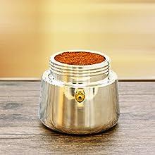 Godmorn Cafetera Italiana, Cafetera espressos en Acero inoxidable