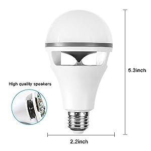 bombilla altavoz Bluetooth lámpara mesita noche bar habitación niño