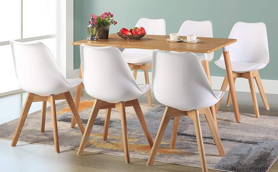 DORAFAIR silla escandinaves perfecto para el hogar y la oficina de uso de sala de estar, comedor, sala de formación, sala de cama, áreas de espera, ...