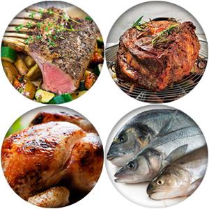 La jeringa a adobo de Lunata es adecuada para los siguientes tipos de carne: