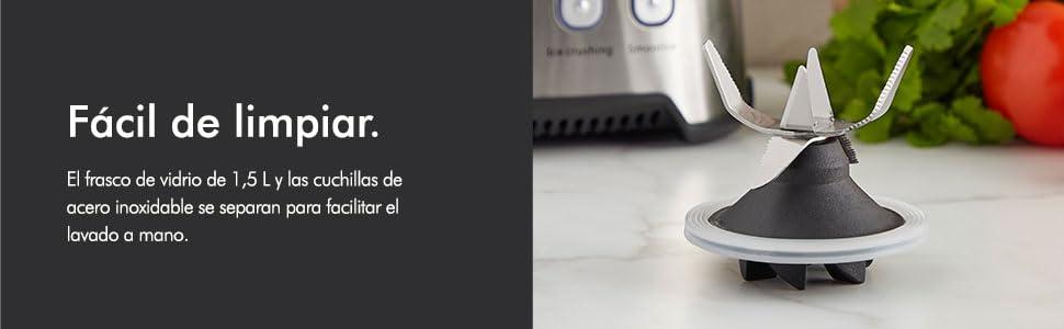 VonShef Licuadora De Vaso De Vidrio de 1000W - Pulso, Trituración ...