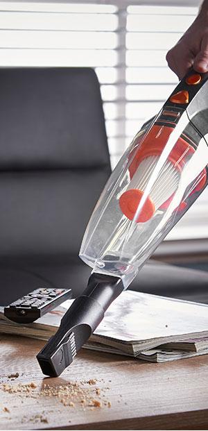 VonHaus Aspiradora escoba y de mano de 600W sin bolsa – 2 en 1 vertical y manual con diseño ligero, filtro HEPA, boquilla y cepillo: Amazon.es: Hogar