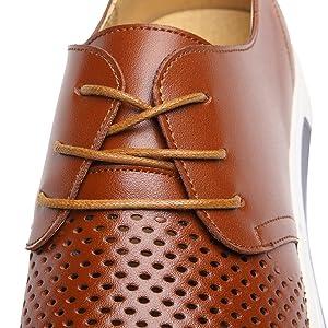Zapatos de Cordones Cuero Hombre