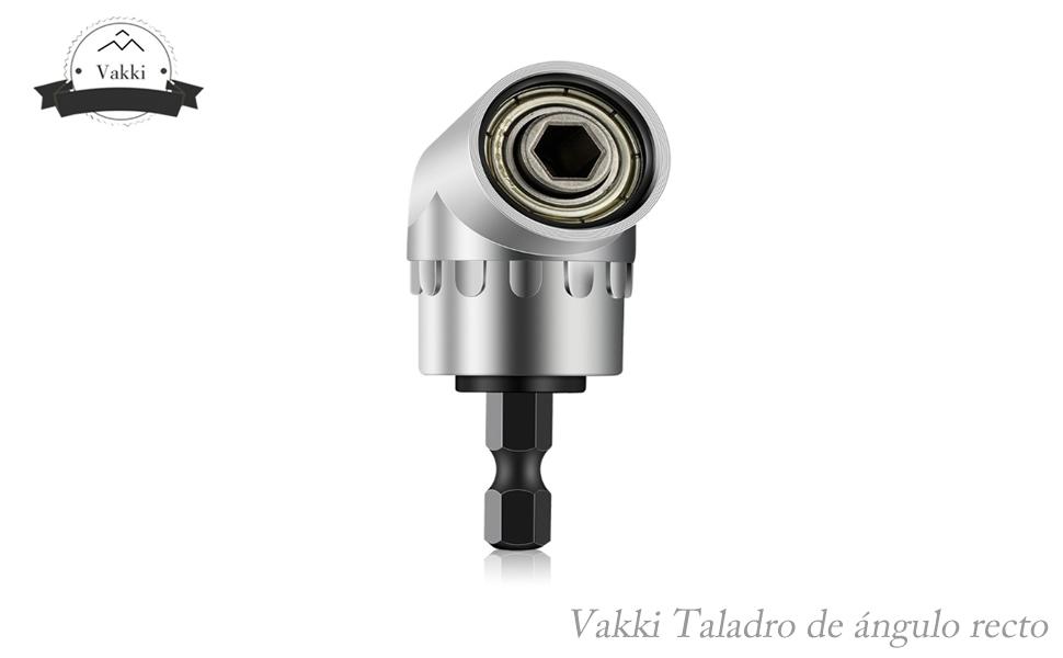 Taladro de ángulo recto, Vakki Broca en ángulo de 105º del conductor Destornillador eléctrico Accesorio de taladro Adaptador de soporte de ...