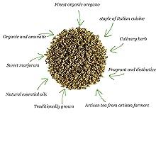 Orégano hojas orgánico hierba seco - Hierba culinaria muy usada en Italia - Tisana de orégano