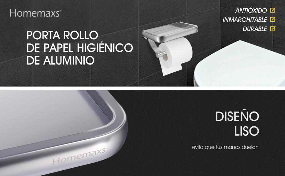 Mantenga el papel higiénico y su teléfono inteligente al alcance de la mano  con este soporte para teléfono y papel 2 en 1 de HOMEMAXS. 82fe9eeefac5