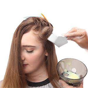 xnicx tinte de pelo set kit tinte de pelo colorear kit cabello tinte para colorear DIY B,cepillo de tinte, capa de peluquería,delantal de nylon de la ...