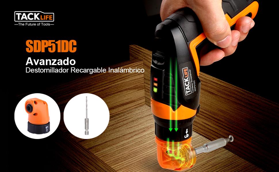 Destornillador Eléctrico Inalámbrico, Tacklife SDP51DC ...