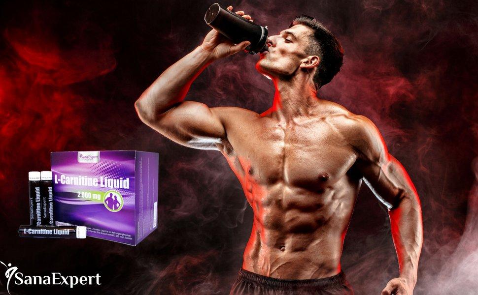SanaExpert L-Carnitina es un suplemento deportivo que ayuda a quemar grasa mediante su conversión en energía.