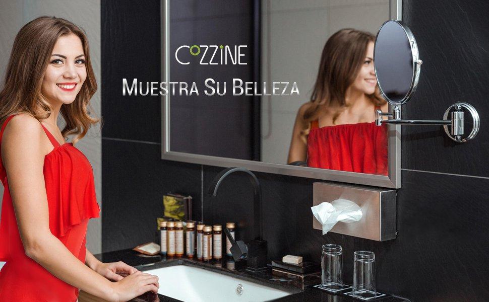 Cozzine Espejo de Maquillaje, Espejo de Baño, Espejo de