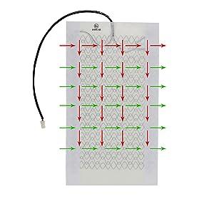 2x carbon heizmatten universalmente equipar sin interruptor