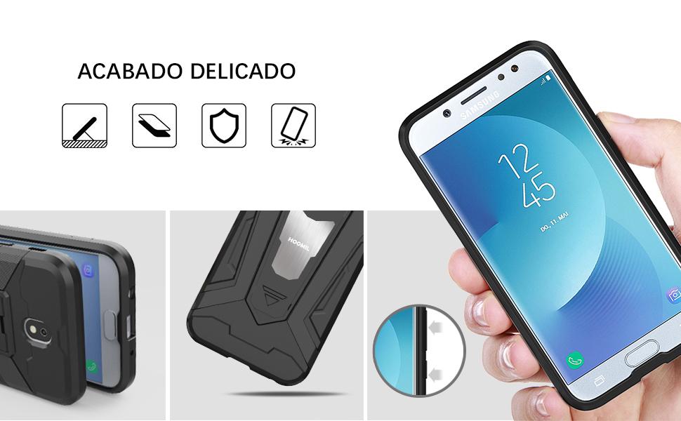Samsung Galaxy J7 2017 Hybrid Dual Layer Shockproof Hard Cover-2